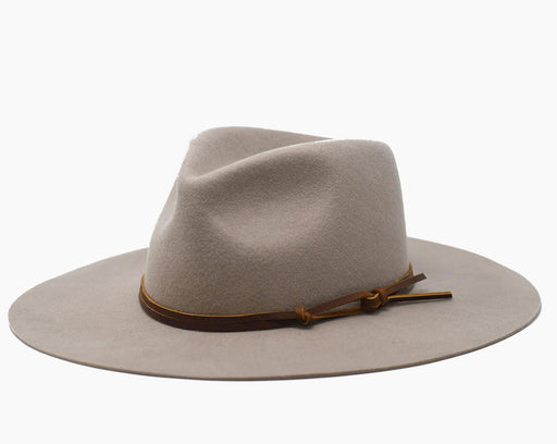 Logan Hard Brim Fedora | Tan