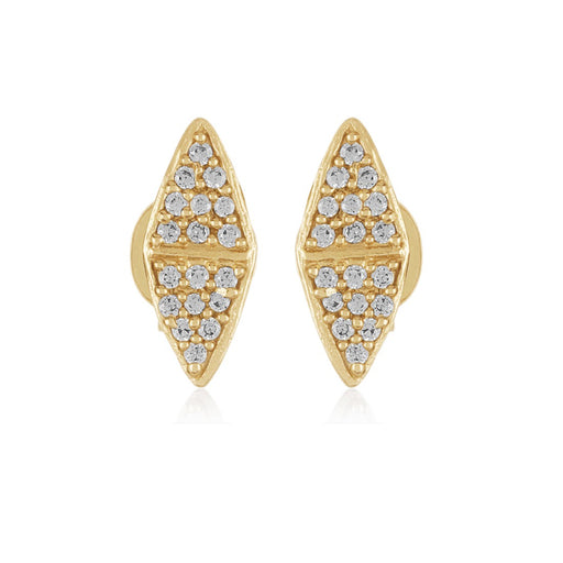 Chloe Mini Pave Studs - Gold