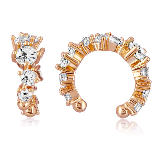 Stella Ear Cuff - Rose Gold / White Diamondettes