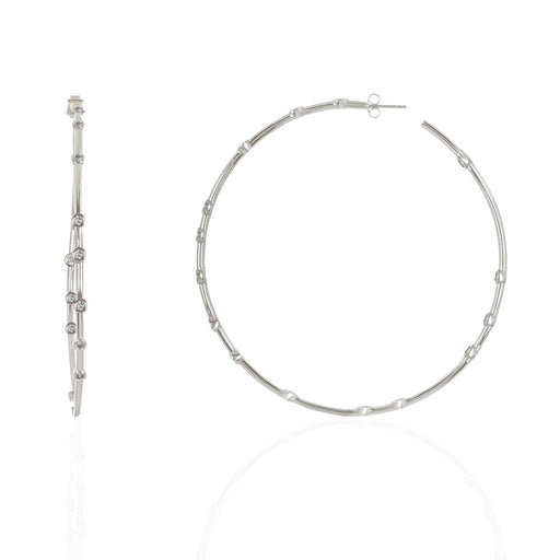 "Stirling Silver ""Big Ass Hoop"" earrings"