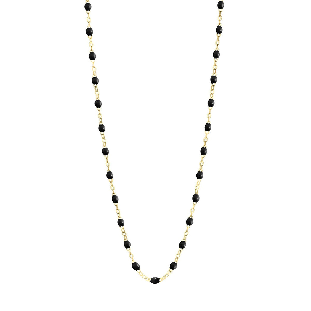 Classic Gigi Black necklace | yellow gold, 16.5""