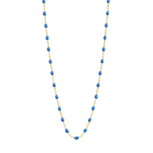 Classic Gigi Blue necklace | yellow gold, 16.5""