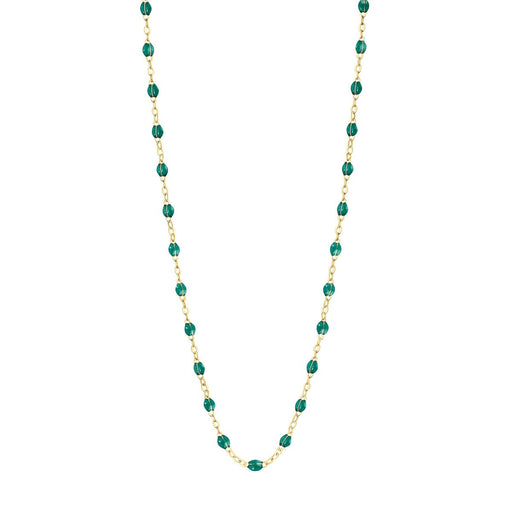 Classic Gigi Emerald necklace | yellow gold, 16.5""