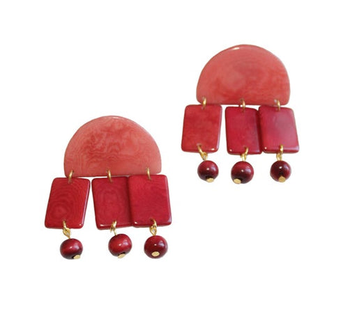 Roberta Earrings | Red / Rose