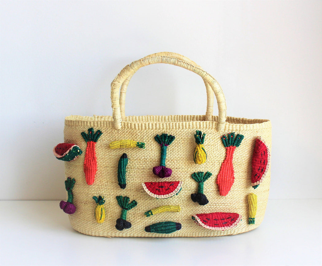 Tropical Straw Bag