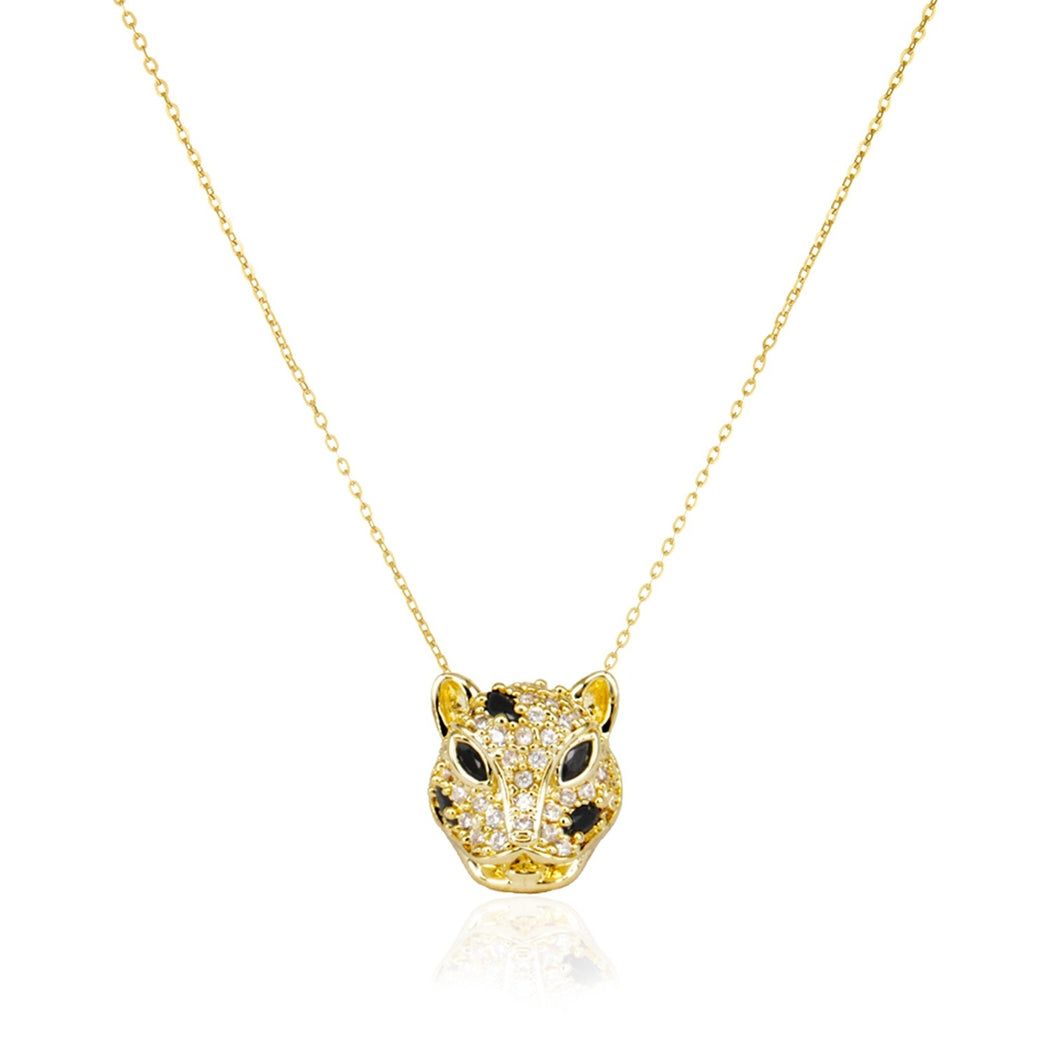 Mama Jaguar Necklace - Gold