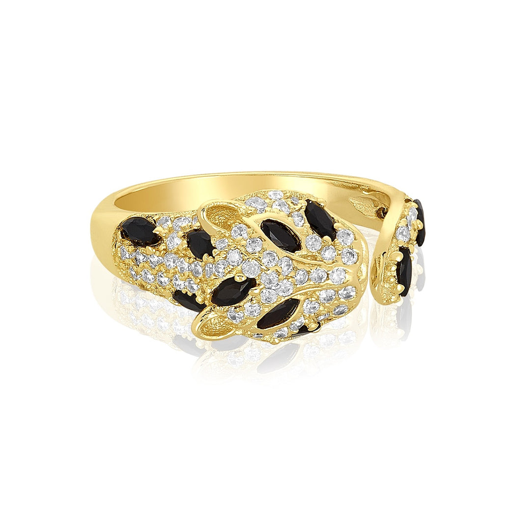 18-karat gold plated Baby Jaguar Ring