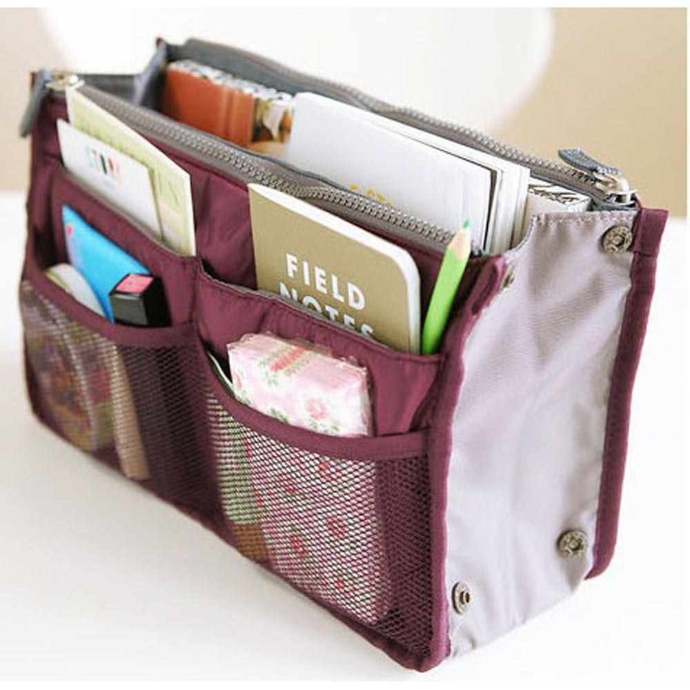 Bag in Bag Organiser – Inner Storage Cosmetics Bag Organizer - The Voyage Collection