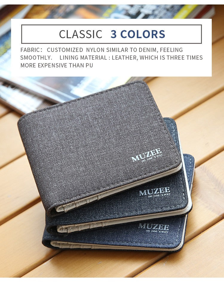 New Retro Canvas Wallets - Card Holder Small Zipper Wallet  - The Voyage Collection