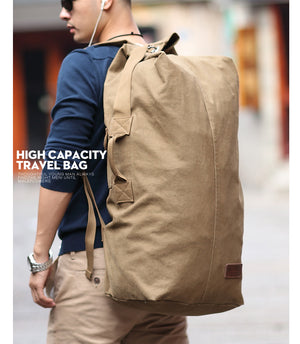 Large Military Style Duffle Bag - Retro Vintage Design Duffle - The Voyage Collection