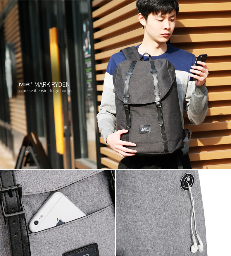 Fashionable USB Charging Backpack backpack - The Voyage Collection