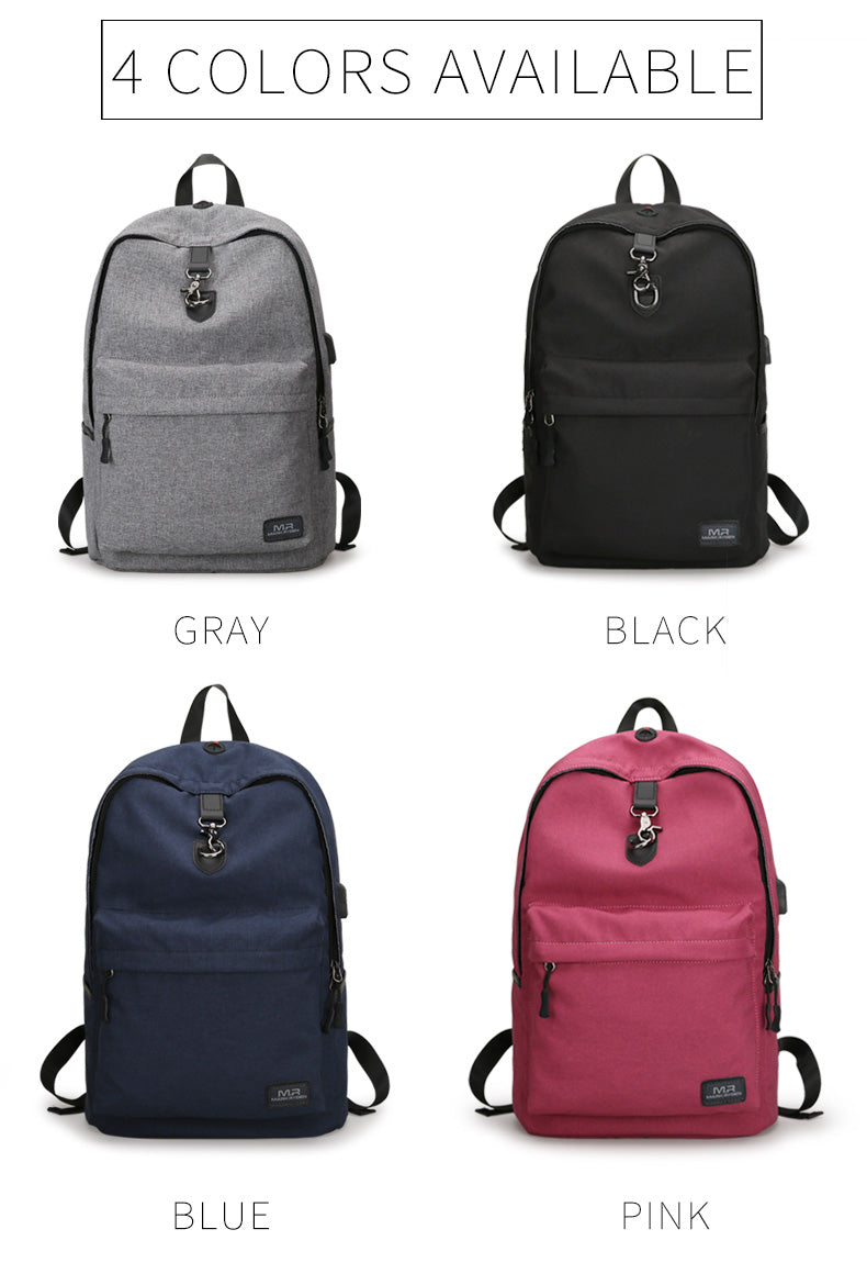 Mark Ryden New Arrivals four Colors USB design Backpack Men Male student backpack weekend Mochila Backpack - The Voyage Collection