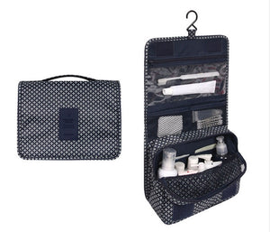 Travel Accessories – Portable waterproof storage organiser for cosmetics with hook  - The Voyage Collection