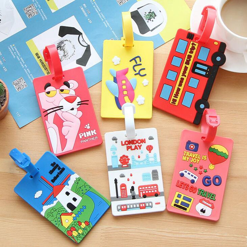 Fun Luggage/Suitcase Tags, Travel Accessories- Silica Gel, Name, ID Address Holder Suma - The Voyage Collection