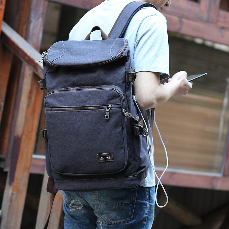 SMART Backpack - Canavs Travel Backpack Backpack - The Voyage Collection