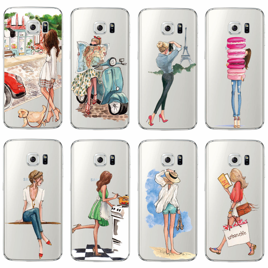 Summer Phone Covers for Samsung Galaxy S6, S7, edge A3 A5 S8 S8Plus Phone - The Voyage Collection