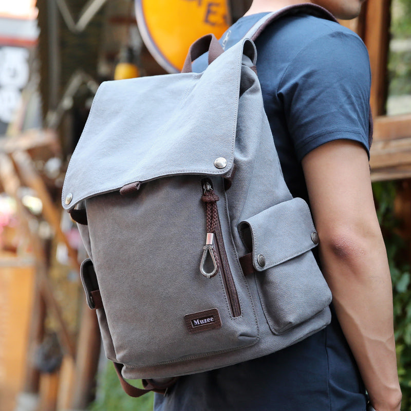 New High Capacity Travel Backpack - Retro Vintage Canvas Backpack - The Voyage Collection