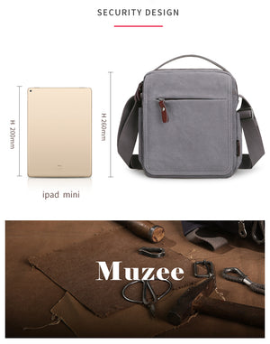 Muzee Multi Functional Cross Bag - Leisure Messenger Bag Retro Business Canvas Bag Sling - The Voyage Collection