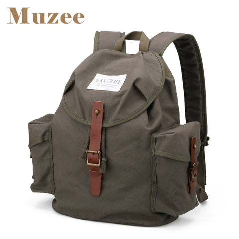 High Capacity Casual Backpack - Canvas Travel Bag