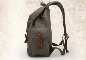High Capacity Casual Backpack - Canvas Travel Bag Backpack - The Voyage Collection