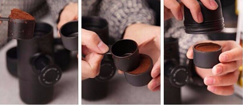Mini Portable Espresso Maker -  Manual Handheld Coffee Machine for Travel & Camping  - The Voyage Collection