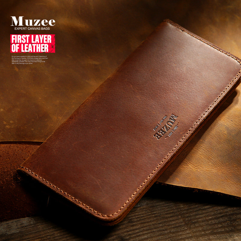 Muzee Retro Genuine Leather Men's Wallet - Handmade Leather  - The Voyage Collection