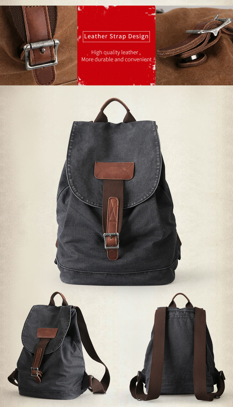 Muzee Vintage Men's Backpack - Travel Backpack 15.6 inch Laptop Backpack  - The Voyage Collection