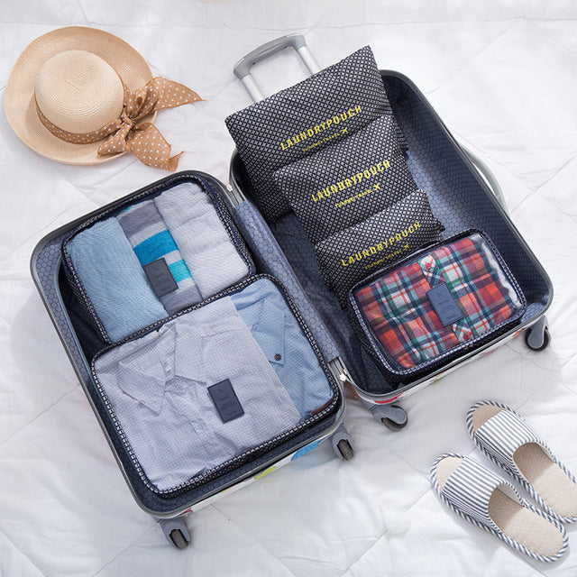 High Quality Luggage Organisers - 6pcs Organizer - The Voyage Collection