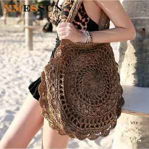 Bohemian Boho Straw Beach Bag - Summer Fashion Basket - The Voyage Collection
