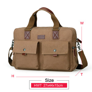 Muzee Briefcase Handbag Fit for 15.6 inch Laptop Cross Body Bag Multi-function Shoulder Bag Sling - The Voyage Collection