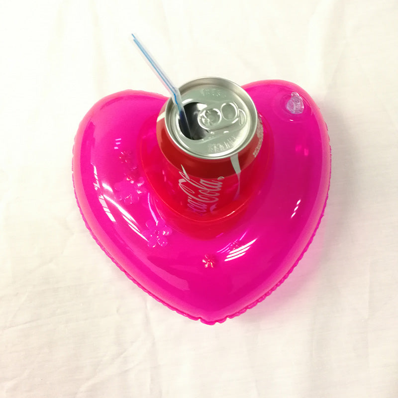 Mini Inflatable Drink Holder - Heart Pineapple Donut Watermellon - Summer Pool Party Floaties - The Voyage Collection