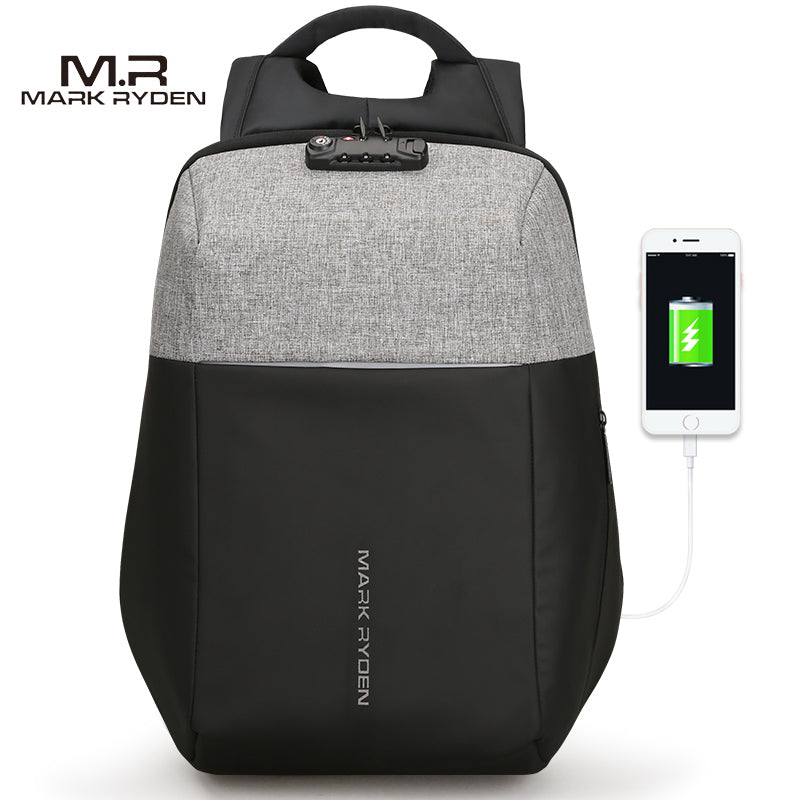 Very Popular - New Anti-thief USB Recharging Hard Shell Laptop Backpack with TSA Lock Backpack - The Voyage Collection