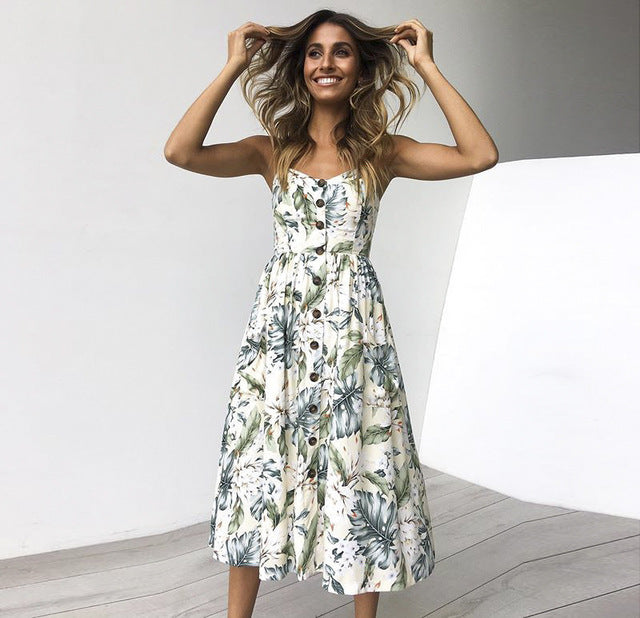 Boho Print Summer Dress Dress - The Voyage Collection
