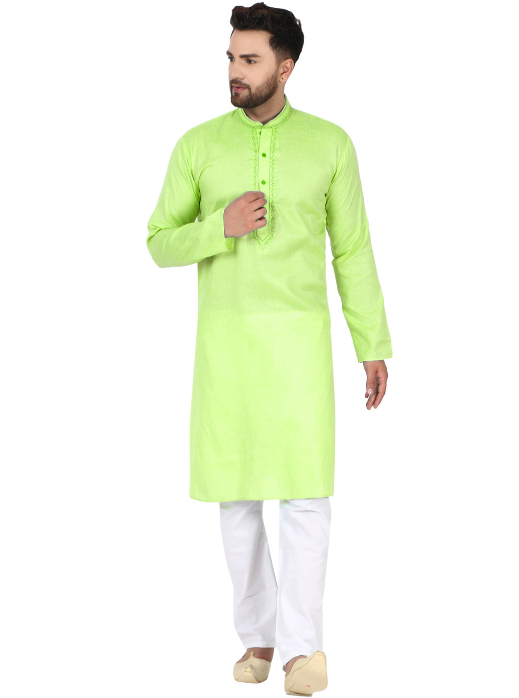SKAVIJ Men's Tunic Kurta Pajama Set Evening Casual Dress