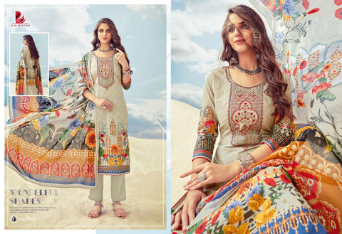 Fizaa Premium Pakistani Designer Embroidered Lawn Suit