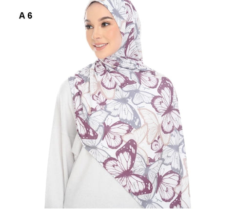 1 Loop Cap Style Stitched Printed Scarf - AliShaif