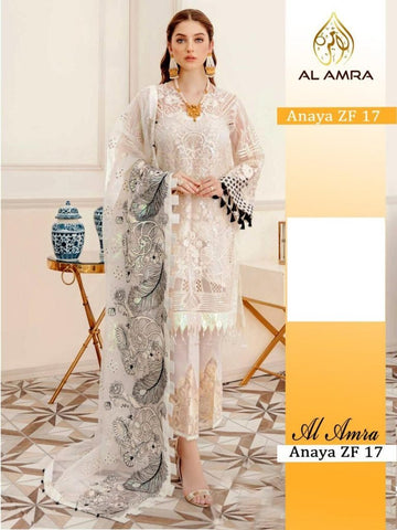 Anaya Pakistani Designer Hit White Festive Wear Dress