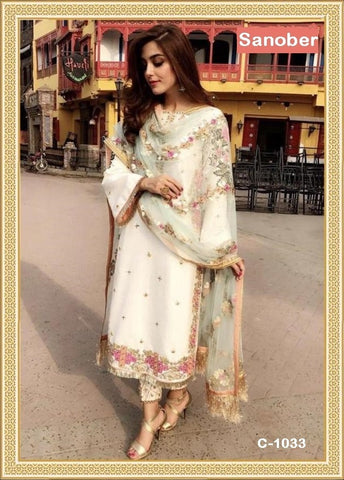 Sanober Pakistani Designer Classic Festive & Party Wear Dress