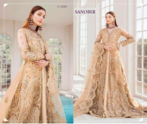 Sanober Pakistani Designer Dashing Stylish Party Wear Dress