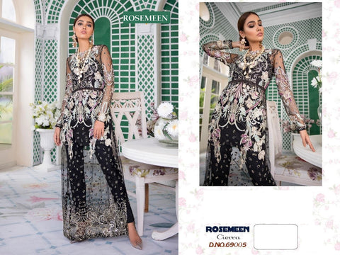 Precious Rosemeen Pakistani Designer Party Wear Embroidered Dress - AliShaif