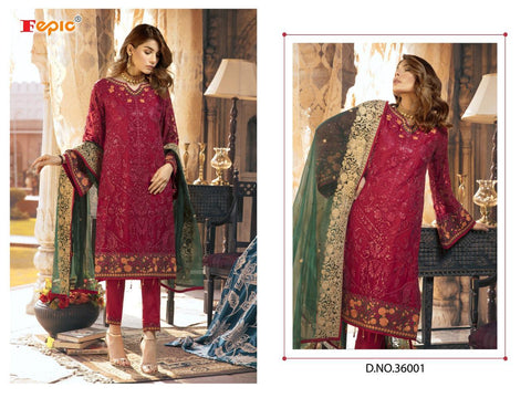 Rosemeen Pakistani Designer Festive Wear Embroidered Dress - AliShaif