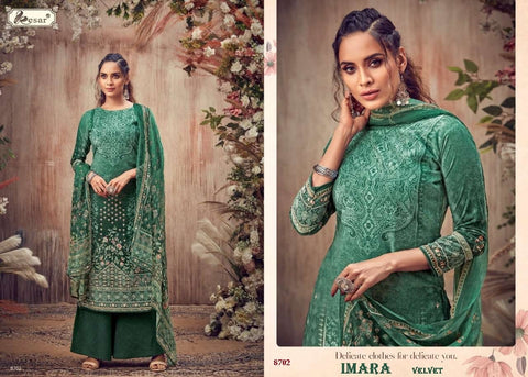 Imara Pakistani Designer Pure Viscose Velvet 9000 Winter Wear Dress - AliShaif
