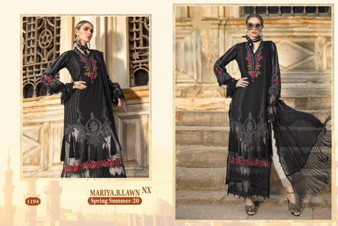 Mariya B Pakistani Designer Hit Embroidered Lawn Suit - AliShaif