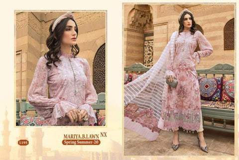 Mariya B Pakistani Designer Hit Embroidered Lawn Suit