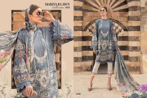 Mariya B Eid Collection 2021 Beautiful Embroidered Lawn Suit