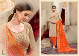Piyansi Designer Festive Wear Embroidered Shirt With Banarasi Dupatta