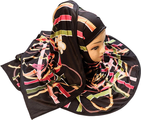 Golden Chain Digital Printed Scarf Hijab - AliShaif