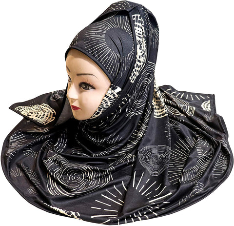 Digital Printed Stretchable Hijab - AliShaif