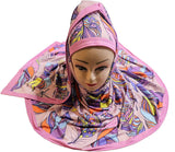 Feather Purple Digital Printed Hijab - AliShaif