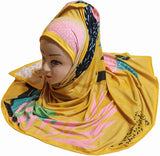 Yellow Digital Printed Hijab - AliShaif